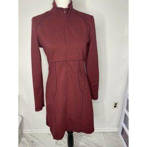 Athleta Cassidy Burgundy MP Long Sleeve Dress